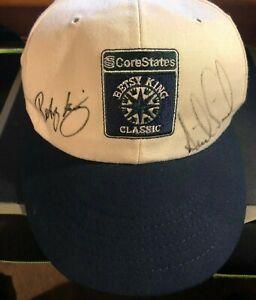 BETSY KING & ANNIKA SORENSTAM Autographed Betsy King Classic Cap 1996-97 LPGA