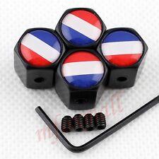 4X Auto Wheel Tyre Valve Screw Air Cap Cover France French Flag Antitheft Style