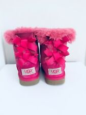 Authentic Kids Ugg Boots With Bows Pink Size 6