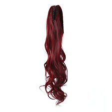 Fashion Women Clip in Hair Extension Long Curly Black Claw Ponytail Hair Piece