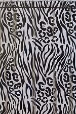"Home Wear Zebra Print Fabric Shower Curtain 70"" x 72"" NIP"