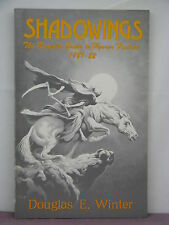 signed, Shadowings: Reader's Guide Horror Fiction 1981-82 ed by Douglas E Winter