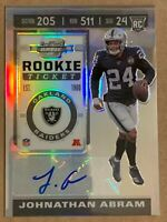 2019 Contenders Optic Prizm Rookie Ticket Auto Johnathan Abram #204. Raiders