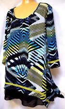 plus sz S/ 16 VIRTU TS TAKING SHAPE Mallorca Tunic soft draping top NWT! rrp$110