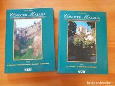 CONOCER MALAGA - TOMO I Y TOMO II - GUIA CULTURAL Y TURISTICA DE LA CAPITAL Y SU