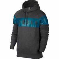 Nike Men's large Air Jordan JUMPMAN BRUSHED PO GRAPHIC Hoodie Gray 802219-071