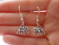 handmade elephant earrings silver earrings for women