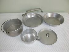 BOY SCOUT  AMERICAN TIN CAMPING COOKWARE MEAL MESS SET