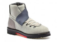 LANVIN MID HIKING BOOT LIZARD SKIN ITALY RED BOTTOM BOOTS SIZE 10