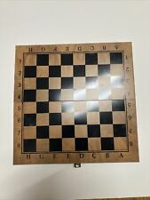 Chess 3 in 1 Wooden Game Set Board Hand Crafted Folding Chessboard US Seller