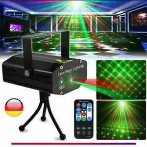 LED Laser Projektor Lampe Lichteffekt Außenbeleuchtung Garten disco Stage Remote