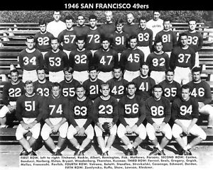 1946 SAN FRANCISCO 49ers 8X10 TEAM PHOTO FOOTBALL PICTURE NINERS NFL