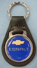 Blue Chevrolet COBALT Leather Keyring Key Fob 2005 2006 2007 2008 2009 2010