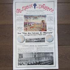 AFFICHETTE PUBLICITÉ ANCIENNE 1930 ALGÉRIE VINS COTEAUX DE HARRACH MAISON CARREE