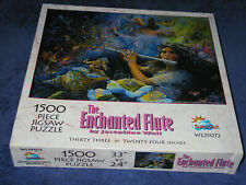 Josephine Wall, THE ENCHANTED FLUTE, rare 1500-pc SunsOut fantasy jigsaw puzzle