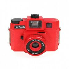 Holga 120GCFN Red Medium Format Film Camera Glass Lens / Colored Flash