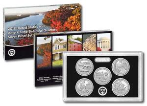 2017 United States Mint America the Beautiful Quarters Silver Proof Set ( #C160)