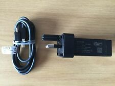 100% GENUINE SONY EP880 MAINS CHARGER & CABLE FOR EXPERIA Z1 Z2 Z3 COMPACT T3