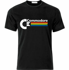 Vintage Style Commodore C64 Retro Gaming T Shirt Black
