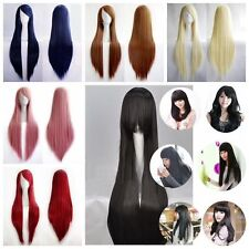 Fashion Women's Lady Wigs Long Straight Cosplay Costume Party Hair Wigs 80cm New