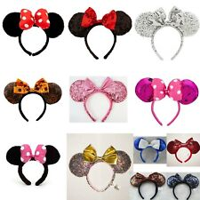 BNWT Minnie Mouse Ears Headband Disney Land World Christmas Sakura Rose Gold