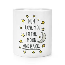 MAMMA I LOVE YOU to the Moon E Indietro trucco pennello matita POT le Madri Giorno