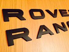 MATT Black Range Rover Lettering TWIN BADGE SET ANTERIORE POSTERIORE SPORT p38 l322 Vogue