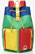 Rare NEW + Tags Retro Vintage Style Benetton High Quality Backpack Bag Rucksack