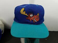 1990's Bullwinkle American Needle Toons Vintage Snapback Hat Cap