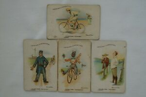 Cycling Terms Scarce 1905 Vintage Antiquarian Wills Capstan Cards x 4 E.G Fuller