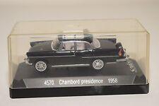 . SOLIDO 4570 SIMCA CHAMBORD PRESIDENCE 1958 BLACK MINT BOXED
