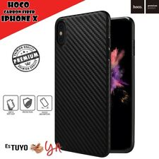 Funda Carbon Fiber Hoco para iPhone X / iPhone XS carcasa ultradelgada slim case