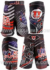 Ukasa Mma Shorts Reinforced stitching Sublimation Printing With Free key chain