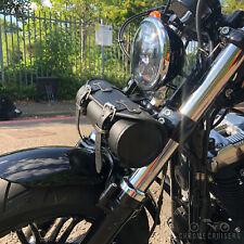MOTORCYCLE LEATHER TOOL ROLL SADDLEBAG HARLEY DAVIDSON SPORTSTER SOFTAIL FATBOY