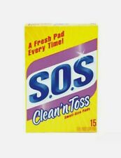 Clean 'n Toss S.O.S Small Size Multipurpose Cleaning Scouring Pads 15/Pk