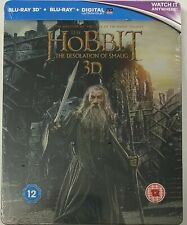 The Hobbit: The Desolation Of Smaug - Steelbook [Blu-ray 3D] New Sealed