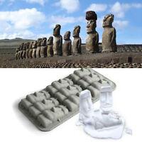 New Easter Island Statue di pietra Moai Ice Tray Cubes Stampo di budino fai C fu