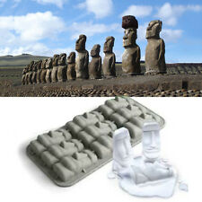 New Easter Island Moai Stone Statues Ice Tray Cubes DIY Mould Pudding Mold TC
