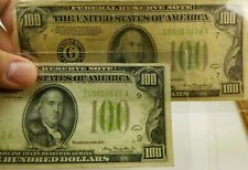 1934 $100 Minneapolis Low Mint # Lime Green one hundred dollar bill