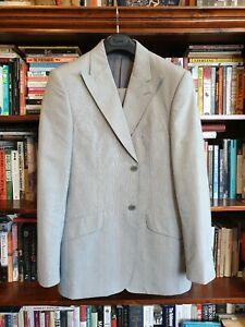 Immaculate Oxford 2-button peak lapel 'Prince of Wales check' mens suit (100R)