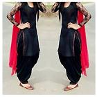 Indian Designer Black Punjabi Patiala Salwar Kameez Suit Dress Material Women