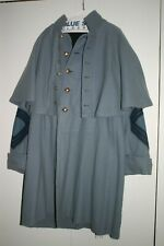 Civil War Confederate Sergeant Re-Enactment Wool Greatcoat Overcoat Size 42