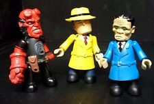 HELLBOY & DICK TRACY  Mez-Itz. 3 Complete figures plus 3 for spare or repair