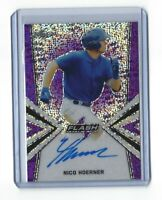 NICO HOERNER  2019 Leaf Flash #BA-NH1  PURPLE AUTOGRAPH  3/25 Chicago Cubs