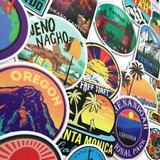 100 World Landmark Travel USA Sate City Skateboard stickers Luggage Laptop Decal