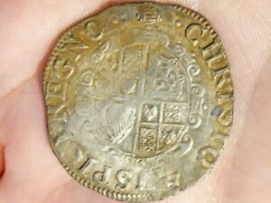 Charles 1 Shilling Hammered Silver mm Tun 1636-38  S2791  #LB17