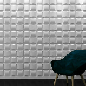 3D Wall Cladding Panel Decorative Square Tiles 3D Wall Panels for Wall Decor