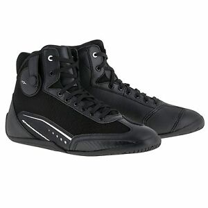 10% Off Alpinestars AST-1 Black/White Motorbike/Scooter Ankle Boots Shoes