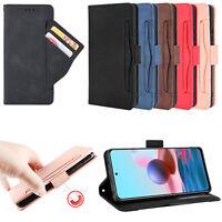 Leder Tasche Schutz Hülle Magnetisch Case Cover für Redmi Note 10 Pro/Pro Max