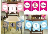 1st Birthday Baby Highchair Bunting Banner Flag Buntings Party Decoration